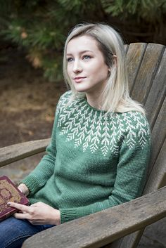 Ravelry: Fern & Feather pattern by Jennifer Steingass Knitting Patterns, Sewing Patterns, Feather Pattern, Fair Isle Knitting, Sweater Design, Knitting Designs, Ferns, Ravelry, Knit Crochet