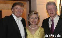 THE GOOD OLD DAYS.  Donald Trump poses with former President Bill Clinton and his wife Hillary - Chelsea Clinton's wedding - New York City.