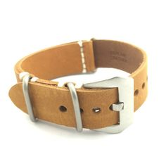 Velvet Brown Crazy Horse Leather ZULU Watch Strap (316L Steel, 20mm, 22mm) #CozyAccessories