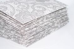 Silver Lace 24 Mini Business Card Size Envelopes by crye on Etsy, $4.00