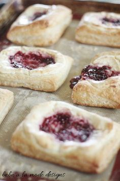 Raspberry Almond Cream Cheese Danish. A yummy Valentine's day breakfast recipe.