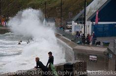 Man nearly swept into the sea in Newquay storm swell Sea To Shining Sea, Newquay, Cornwall, Niagara Falls, Waves, Sunset, Beach, The Beach, Beaches
