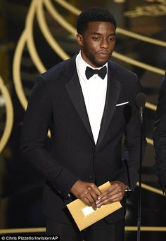 Chadwick Boseman present the award for best sound editing