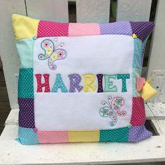 Personalizar nombre de Patchwork cojín * paisley mariposa lunares * rosa púrpura azul amarillo turquesa verdes brillos pastel *