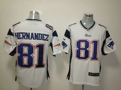 $22 for Men's Nike New England Patriots #81 Aaron Hernandez Game White Jersey. Buy Now! http://55usd.com/Men-s-Nike-New-England-Patriots--81-Aaron-Hernandez-Game-White-Jersey-productview-121014.html #Nike #NFL #England_Patriots #81 #Aaron_Hernandez #Jersey #55USD