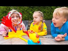 Gaby and Alex play pie face cannon challenge with Mama Alex Plays, Family Fun Games, Cannon, Outdoor Activities, Pie, Challenges, Youtube, Travel, Torte