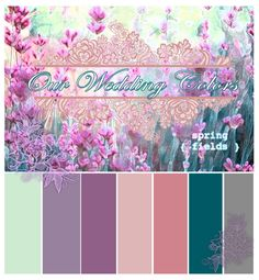 Our official colors  Sea Foam/Mint Green | Lilac/Lt Purple | Orchid / Plum | Blush/Lt Rose | Peachy/Coral Pink | Dark Teal | Grey Mid-Lt