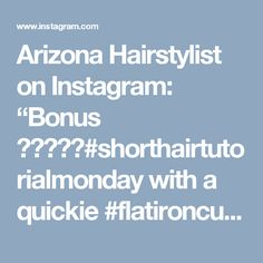 "Arizona Hairstylist on Instagram: ""Bonus 💜💙💜💙💜#shorthairtutorialmonday with a quickie #flatironcurls #tutorial. New color formulas on previous post. #denimhair…"""