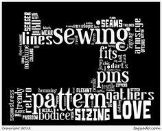 The Petite Sewist: Tonight I'm An Insomniac...With Word Art
