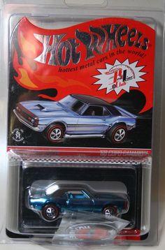 2013 Hot Wheels RLC Club Cars Set of 4 Chrome/Red/Blue/Purple 68 COPO CAMARO #HotWheels