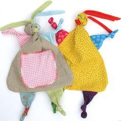 Rag Dolly Tag Blanket PDF Sewing Pattern  Baby Tag by SweaterDoll, $9.00