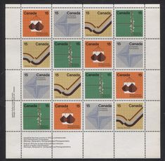 Canada #585a (SG#741a) 15c Multicoloured 1972 Earth Sciences LL Inscription Sheet LF/MF Paper VF-84 NH   #graphicstamp #stampsarecool #creativestamp #Designerstamp #coolstamp Earth Science, Ultra Violet, Postage Stamps, Auction, Miniatures, Graphic Design, Stock Photos, Cool Stuff, Paper
