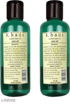 Hair Care Khadi Tulsi Hair Oil ( Pack of 2 )   *Type* Hair Oil  *Capacity* 210 ml X 2  *Description* It Has 2 Pack Of Hair Oil (Khadi Herbal Tulsi  Hair Oil)  *Sizes Available* Free Size *   Catalog Rating: ★4.1 (455)  Catalog Name: Free Sample KHADI Hair Care Products Vol 13 CatalogID_103988 C50-SC1249 Code: 522-890082-