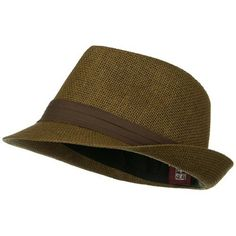 83d23e2e97e Solid Band Summer Straw Fedora - Brown Black Small Medium at Amazon Men s  Clothing store  Hat