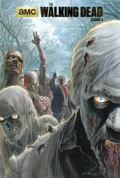 This zombie-packed poster will be available at San Diego Comic Con to celebrate season 4 of The Walking Dead, drawn by legendary comic artists Alex Ross, Head Walking Dead Zombies, The Walking Dead Saison, The Walking Dead Poster, Walking Dead Season 4, Walking Dead Tv Show, Walking Dead Memes, Fear The Walking Dead, Alex Ross, Rick Grimes