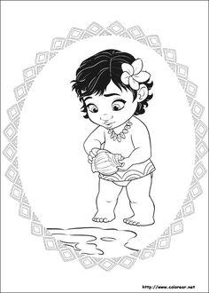 Dibujos Para Pintar Vaiana  #dibujos #dibujosparapintar #pintar #vaiana