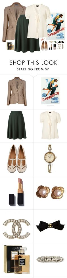 """""""Why don't you kiss her instead of talking her to death?"""" by somethinglikelove ❤ liked on Polyvore featuring Ralph Lauren Blue Label, Yves Saint Laurent, Chie Mihara, Rolex, Chanel, Sara Attali and vintage"""