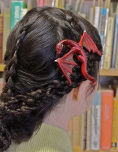 Sometimes I Wish I Was A Lady: Little Dragon Hair Clips | Geekologie