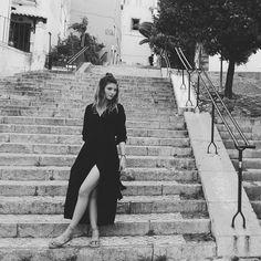 Girl in the black dress