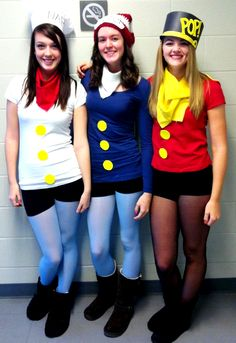 me and my friends being snap crackle and pop for halloween! :) *my mom crochet the hat for me