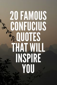 20 Famous Confucius Quotes That Will Inspire You Confucius Say, Confucius Quotes, Profound Quotes, Meaningful Quotes, Inspirational Thoughts, Inspiring Quotes, Famous Inspirational Quotes, Quotes By Famous People, Education Quotes For Teachers
