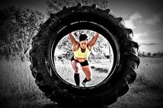 Have you ever done a tire flip workout. Yes, girls & boys can do this.