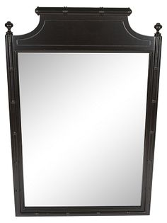 One Kings Lane Henry Link Faux Bamboo Navy Mirror #colorfurniture