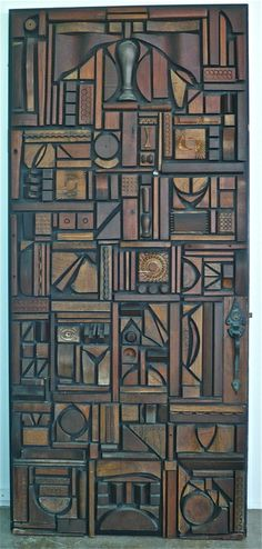 Mabel Hutchinson Wood Door Assemblage