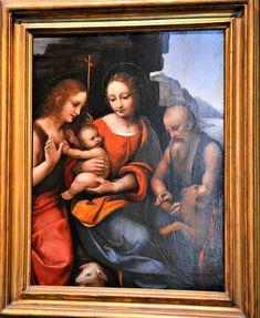Madonna con Bambino, san Giovanni Battista e san Girolamo, Gian Pietro Rizzo o Giampietrino Museo nazionale di Capodimonte