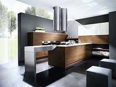 Küche braun-grau