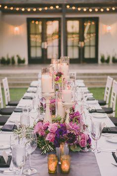 Candles. Wedding Planner: Angela of Celebrations of Joy / Florist and Lighting Design: Luna of Arrangements.
