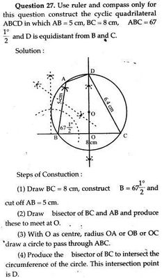 ICSE Solutions for Class 10 Mathematics - Circle Constructions - A Plus Topper Maths Ncert Solutions, Isosceles Triangle, Area And Perimeter, Chapter 16, Study Materials, Textbook, Biology, Tips