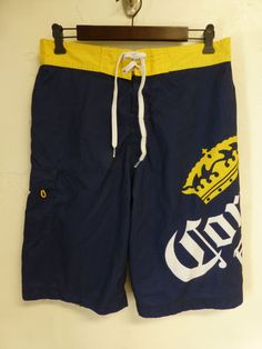 26ab8f2684 CORONA EXTRA Boardshorts Swim Trunks Mens 32 Beach Resort Wear Surf Cruise  Beer $14.99 Cruise Clothes