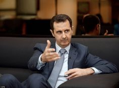 Syrian president Bashar al-Assad pictured last month giving an interview to Paris Match ma...