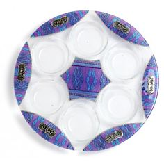Carmel Gifts - Artistic Painted Glass Seder Plate, $89.90 (http://www.carmelgiftshop.com/judaica-and-jewish-holidays/passover-pesach/artistic-painted-glass-seder-plate/)
