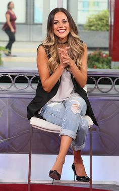 Jana Kramer Trendy Ripped Jeans from True Religion