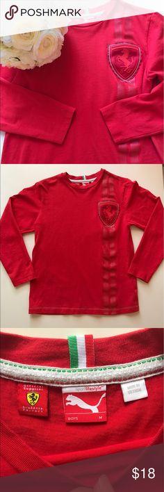 Puma Scuderia Ferrari Boys Long Sleeve TShirt Great conditions! For cars lovers! Puma Ferrari Shirts & Tops Tees - Long Sleeve