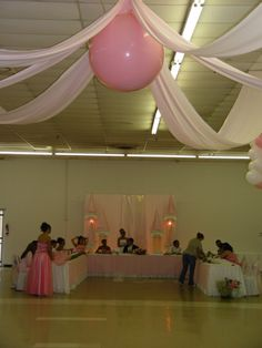 Quinceaneras inside the ballon can be filled with confetti and small ballons & pop it when the dance comes