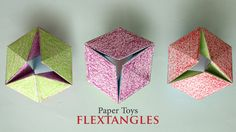 Check this video on how to make this flashy Paper Toy : Flextangles Print Template Here :…