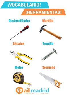 Basic tools to repair somehing! Here are some of them!