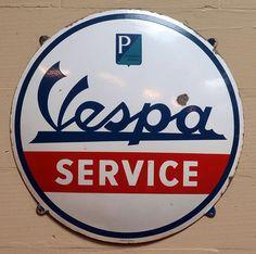 Vespa Enamel advert sign