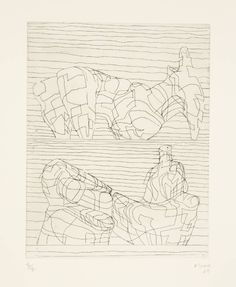 Henry Moore OM, CH 'Two Reclining Figures Linear', 1969 © The Henry Moore Foundation, All Rights Reserved, DACS 2014