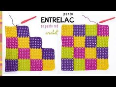 Entrelac in Rectangle. Learn how to make a perfect size bed spread using Entrelac in a rectangle around the centre instead of doing rows.Entrelac baby blanket is exactly what you are looking for. Entrelac a crochet o ganchilloEntrelac cable stitch (w Tunisian Crochet, Hand Crochet, Crochet Afghans, Crochet Stitches, Knit Crochet, Crochet Blocks, Crochet Blanket Patterns, Baby Blanket Crochet, Enterlac Crochet