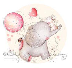 Bambini illustrazione - Nursery - amore e amicizia, elefantino e coniglietto di ShivaIllustrations su Etsy https://www.etsy.com/it/listing/152397214/bambini-illustrazione-nursery-amore-e