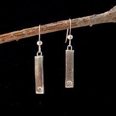Fine Silver Pillar Earring