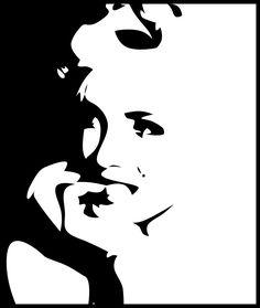 Black and White Marilyn Monroe Stencil | Marilyn Monroe Marilyn