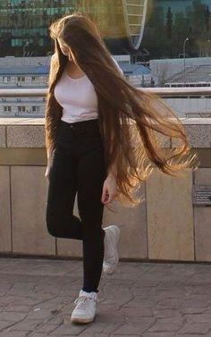 longhairfix Thick Hair Bob Haircut, Bob Hairstyles For Thick, Permed Hairstyles, Modern Hairstyles, Beautiful Long Hair, Gorgeous Hair, Long Silky Hair, Really Long Hair, Air Dry Hair