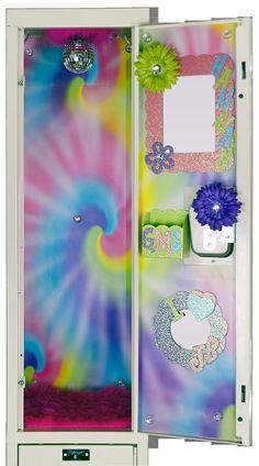 Tie Dyed Locker Wallpaper by LuvUrLocker on Etsy, $22.99