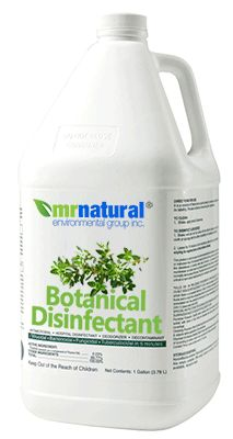 To date, our botanical disinfectant is the best solution we designed for use in the field for mold remediation projects as well as issues with bacterial outbreaks. For over 20 years, mr natural® environmental engineers have depended on it, witnessed and thoroughly tested the results. This solution:  * Kills Over 99.99% of Germs Including Molds * Virucidal (HIV-1) • Bactericidal (Including MRSA) * Fungicidal, Tuberculocidal * Extremely Efficient
