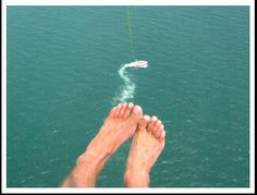 This could be you flying high with us this summer in #muskoka. #horizonparasailinc